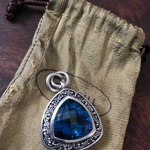 Lois Hill Jewelry - Authentic rare genuine Topaz Lois Hill pendant